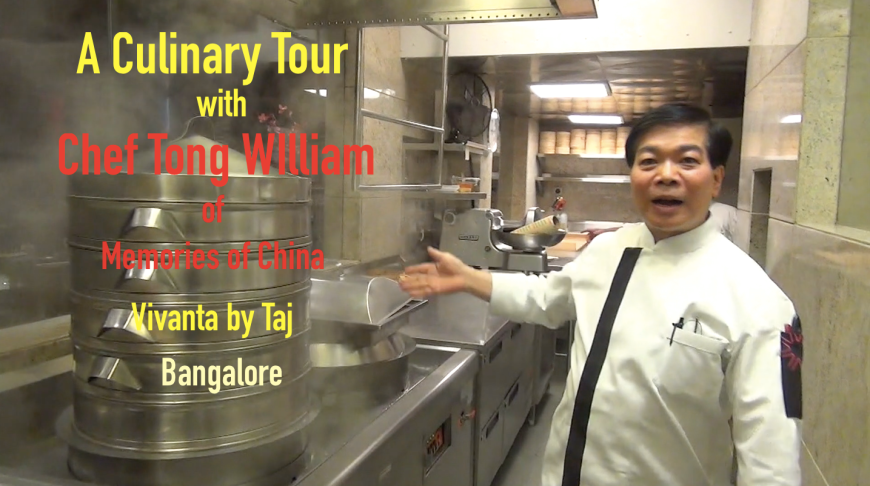 Chef Tong William at Memories of China in Bangalore