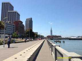 Ferry Building and Embarcadero in San Francisco