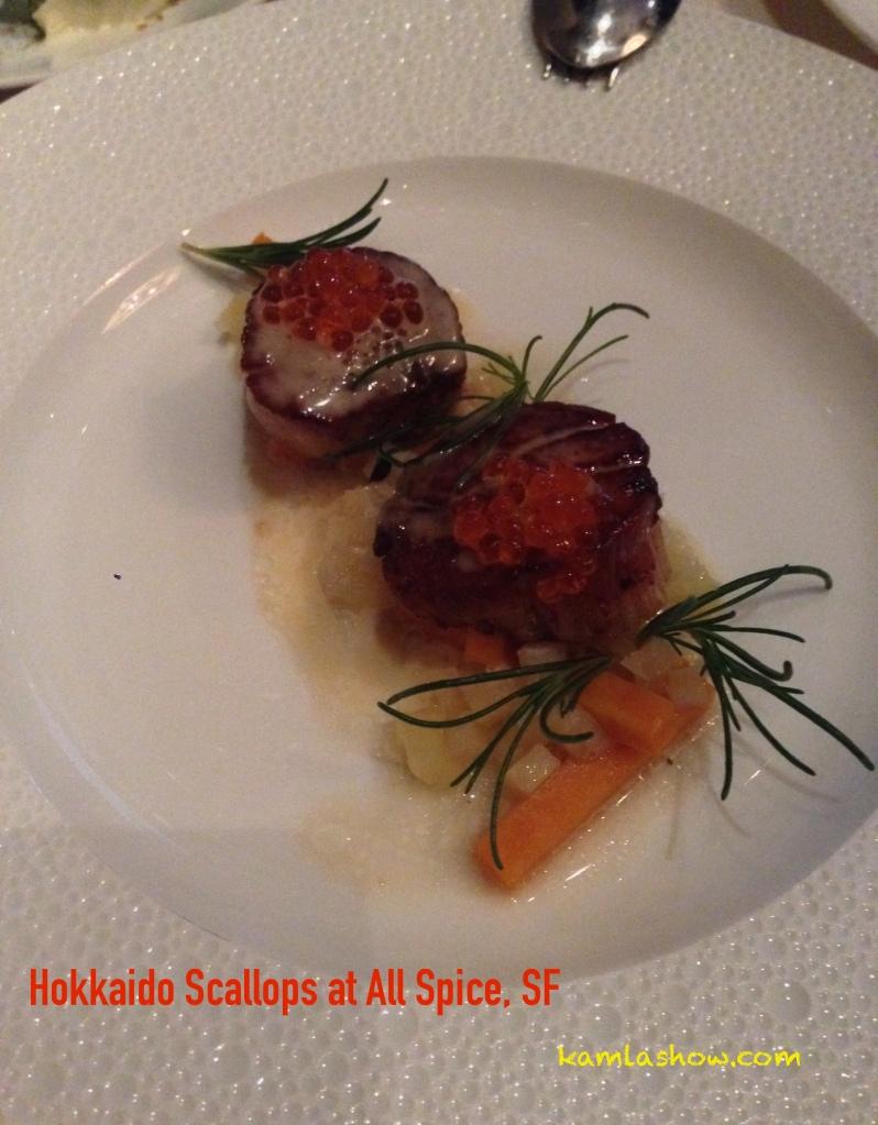 Hokkaido Scallops, Allspice