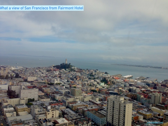iew of San Francisco from Fairmont Hotel